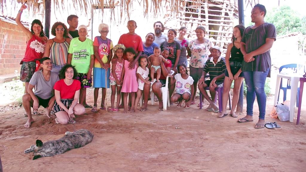 Group photo of the Association of the Native Cariris of Poço Dantas-Umari