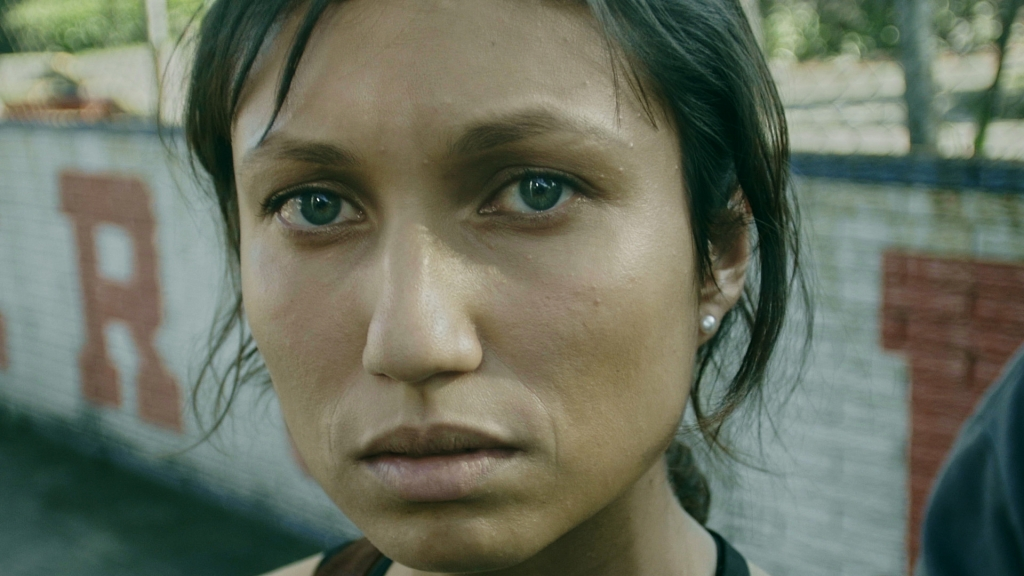 Close-up of face of a distressed young woman