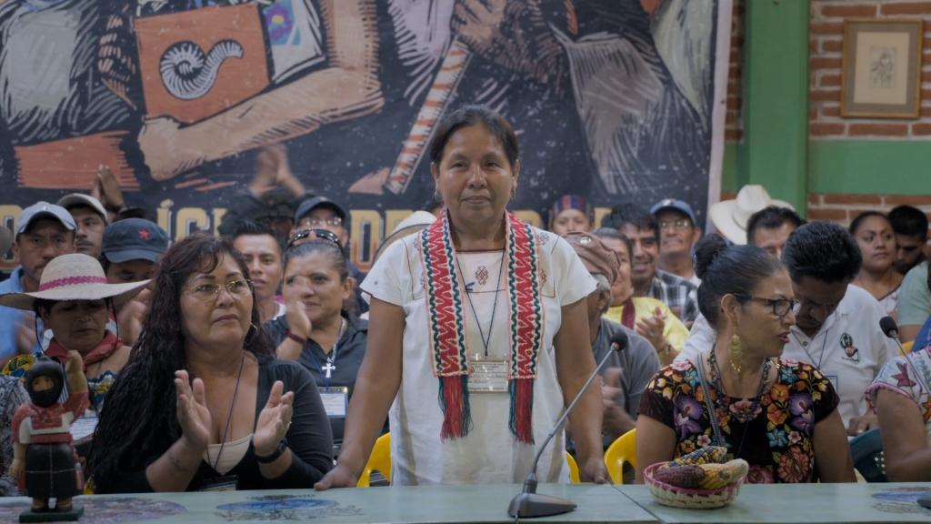 Woman giving speech