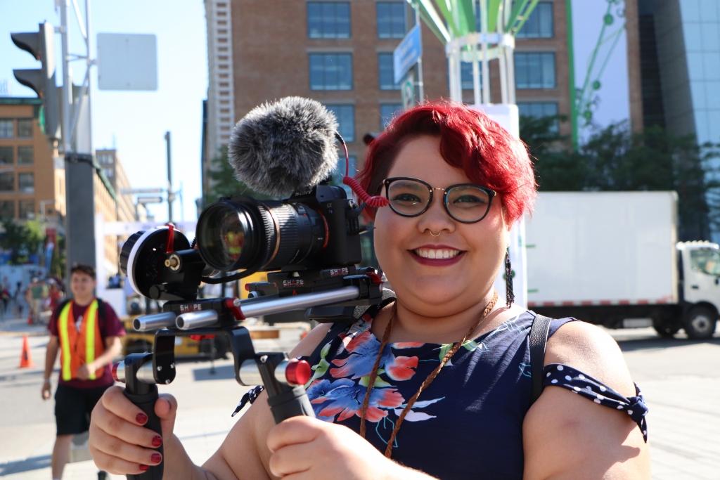 Photo of Kijatai Alexandra with camera